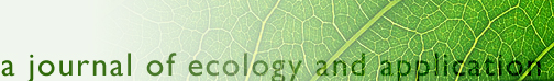 a journal of ecology and application